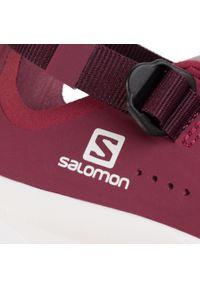 Różowe buty trekkingowe salomon z cholewką