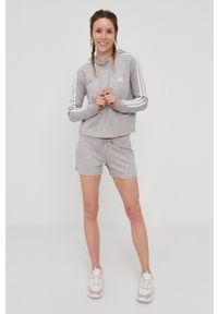 Adidas - adidas - Bluza. Kolor: szary. Materiał: poliester, dzianina