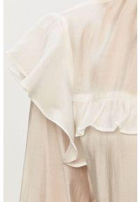 Biała bluzka Glamorous casualowa, krótka, z okrągłym kołnierzem, na co dzień