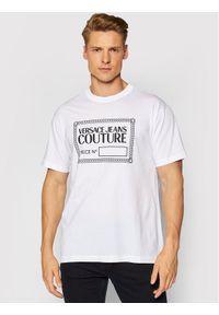 Versace Jeans Couture T-Shirt Piece Nr Rub 71GAHT13 Biały Regular Fit. Kolor: biały