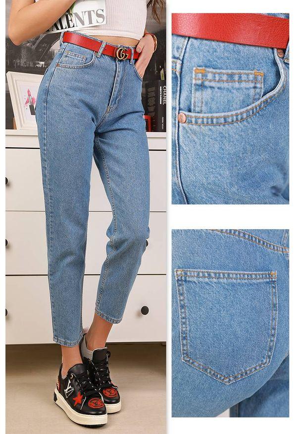 Niebieskie jeansy IVET na co dzień, eleganckie, z podwyższonym stanem