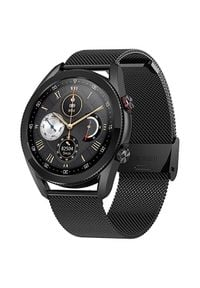 Wotchi Smartwatch W23B - Black Stainless Steel. Rodzaj zegarka: smartwatch. Styl: casual