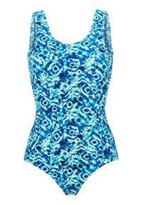 Cellbes Kostium kąpielowy w niebieskie wzory niebieski we wzory female niebieski/ze wzorem 60. Kolor: niebieski. Materiał: guma