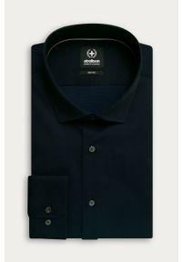 Niebieska koszula Strellson casualowa, na co dzień, długa
