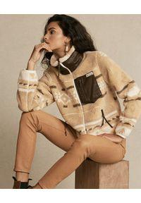 Ralph Lauren - RALPH LAUREN - Wzorzysta bluza. Kolor: brązowy. Materiał: jeans, polar. Długość rękawa: długi rękaw. Długość: długie. Sezon: wiosna. Styl: klasyczny #3