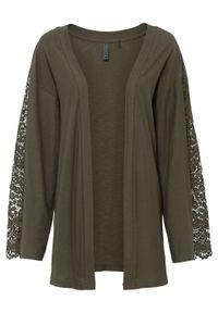 Zielony sweter bonprix elegancki