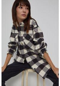 medicine - Medicine - Koszula bawełniana Denim Days. Okazja: na co dzień. Kolor: beżowy. Materiał: bawełna, denim. Długość rękawa: długi rękaw. Długość: długie. Styl: casual