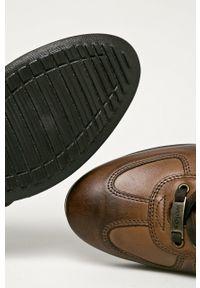 Wojas - Półbuty skórzane. Nosek buta: okrągły. Zapięcie: sznurówki. Kolor: brązowy. Materiał: skóra #3