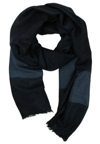 Niebieski szalik Teer na wiosnę, w paski, elegancki