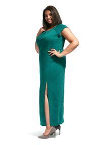 Zielona sukienka dla puszystych Moda Size Plus Iwanek na co dzień, na lato