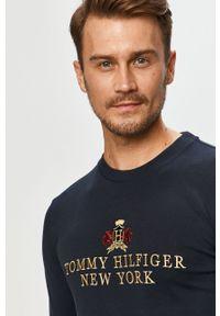 Niebieska koszulka z długim rękawem TOMMY HILFIGER na co dzień, z aplikacjami #5