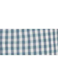 Niebieska koszula TOP SECRET z krótkim rękawem, w kratkę