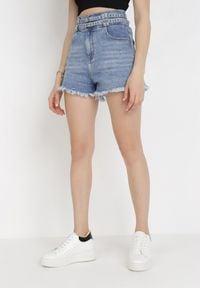 Born2be - Niebieskie Szorty Jeansowe Athessei. Kolor: niebieski. Materiał: jeans