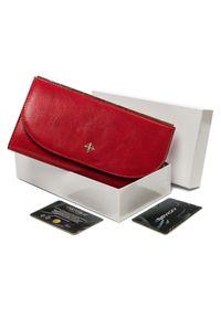 MILANO DESIGN - Portfel damski czerwony Milano Design SF1833-ML RED. Kolor: czerwony. Materiał: skóra ekologiczna