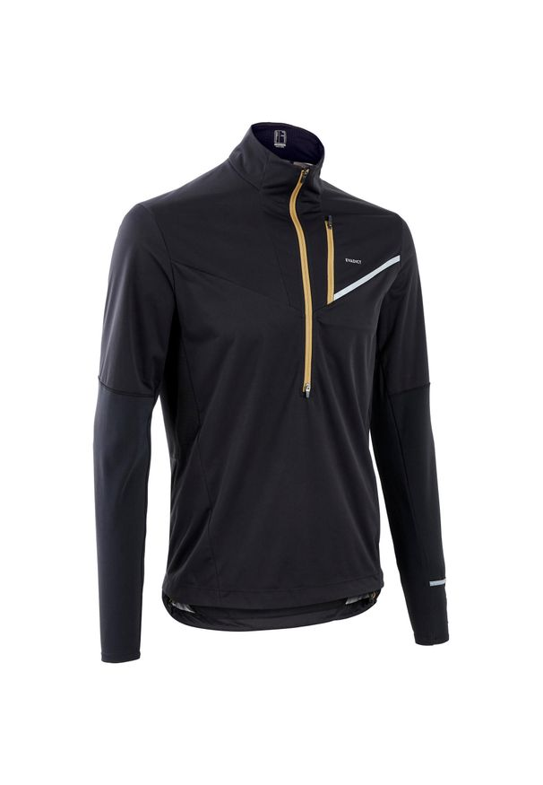 EVADICT - Bluza do biegania w terenie męska Evadict Softshell. Kolor: czarny. Materiał: poliester, materiał