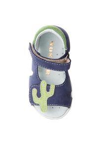 Niebieskie sandały Mido z aplikacjami