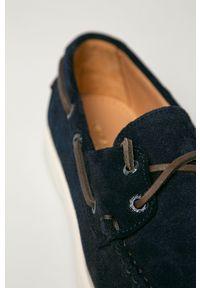 vagabond - Vagabond - Mokasyny zamszowe Scott. Nosek buta: okrągły. Kolor: niebieski. Materiał: zamsz #4