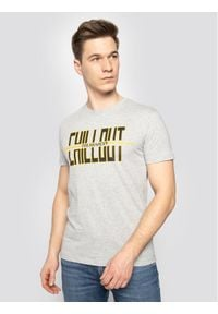 Trussardi Jeans - Trussardi T-Shirt 52T00325 Szary Regular Fit. Kolor: szary
