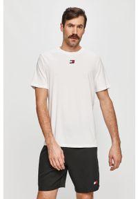 Biały t-shirt Tommy Sport sportowy, na co dzień