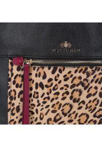 Czarna torebka worek Wittchen z motywem zwierzęcym, klasyczna #6