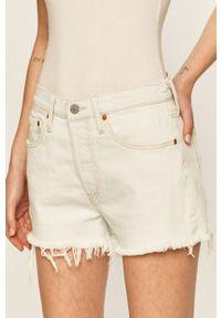 Levi's® - Levi's - Szorty jeansowe. Okazja: na spotkanie biznesowe. Kolor: niebieski. Materiał: jeans. Styl: biznesowy