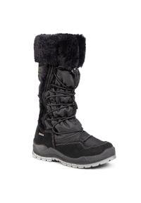 Czarne buty zimowe Primigi z cholewką