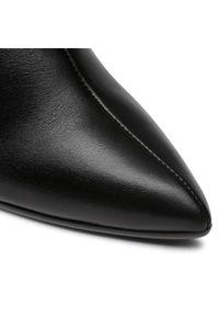 Czarne botki Sergio Bardi na średnim obcasie, na obcasie