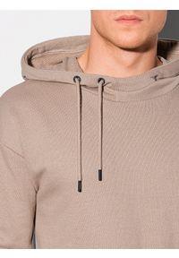 Ombre Clothing - Bluza męska z kapturem B1187 - popielata - XXL. Typ kołnierza: kaptur. Kolor: szary. Materiał: poliester, bawełna