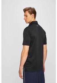 Czarna koszulka polo Under Armour polo, na co dzień, gładkie, casualowa
