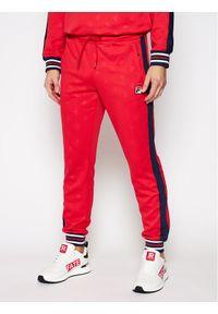 Czerwone spodnie dresowe Fila