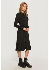 Czarna sukienka Vila na co dzień, prosta, casualowa