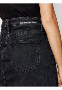 Czarna spódnica jeansowa Calvin Klein Jeans