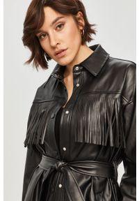 Czarna kurtka Answear Lab bez kaptura, wakacyjna
