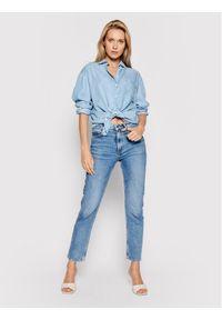 Guess Koszula jeansowa Pauleta W1GH36 D4D22 Niebieski Oversize. Kolor: niebieski. Materiał: jeans