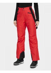 Czerwone spodnie narciarskie outhorn