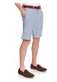 Niebieskie szorty TOP SECRET w kolorowe wzory