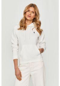 Biała bluza Polo Ralph Lauren gładkie, na co dzień, casualowa, polo