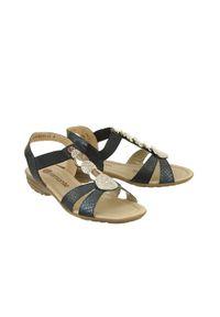 Niebieskie sandały Rieker Remonte