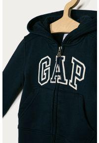 Niebieska bluza rozpinana GAP na co dzień, casualowa, z kapturem