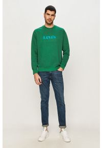 Levi's® - Levi's - Bluza bawełniana. Okazja: na spotkanie biznesowe. Kolor: zielony. Materiał: bawełna. Wzór: nadruk. Styl: biznesowy