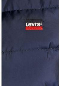Niebieska kurtka Levi's® z kapturem, casualowa, w kolorowe wzory, na co dzień