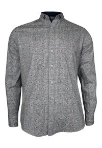 Elegancka koszula Rigon długa, paisley