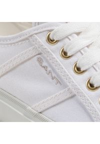 Tenisówki GANT - Pinestreet 22538609 White G29. Okazja: na co dzień. Kolor: biały. Materiał: materiał. Szerokość cholewki: normalna. Styl: casual #6
