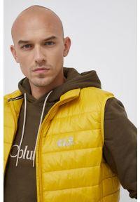 Jack Wolfskin - Bezrękawnik. Kolor: żółty. Materiał: włókno, polar, materiał, syntetyk. Długość rękawa: bez rękawów