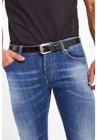 Versace Jeans Couture - PASEK VERSACE JEANS COUTURE. Materiał: skóra. Styl: klasyczny, elegancki