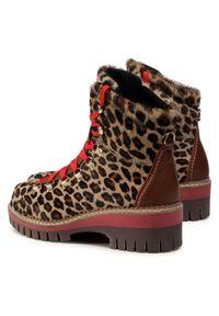 Brązowe buty trekkingowe New Italia Shoes z cholewką