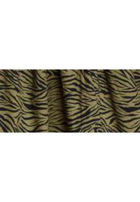 TOP SECRET - Sukienka w zwierzęcy nadruk. Kolor: brązowy. Materiał: tkanina. Wzór: motyw zwierzęcy, nadruk. Sezon: wiosna. Styl: elegancki