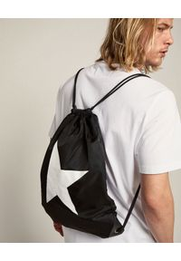 GOLDEN GOOSE - Czarny plecak Star. Kolor: czarny. Materiał: nylon. Wzór: aplikacja