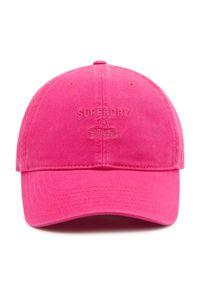 Superdry - Czapka z daszkiem SUPERDRY - Baseball Cap W9010105A Dusky Rose. Kolor: różowy. Materiał: materiał, bawełna #3