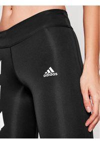 Czarne legginsy sportowe Adidas do biegania